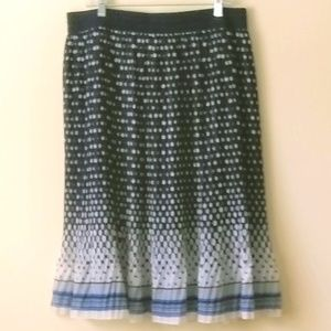 """2X 29"""" Long Full Flowing Skirt with Small Pleats"""